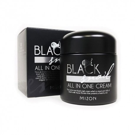 Black Snail All In One Cream mizon Cremas coreanas para blanquear la piel